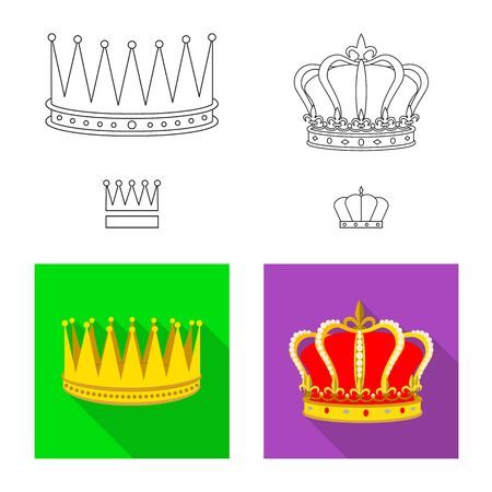 Isolated object of medieval and nobility  . Collection of medieval and monarchy stock symbol for web. Stok Fotoğraf - 130033151
