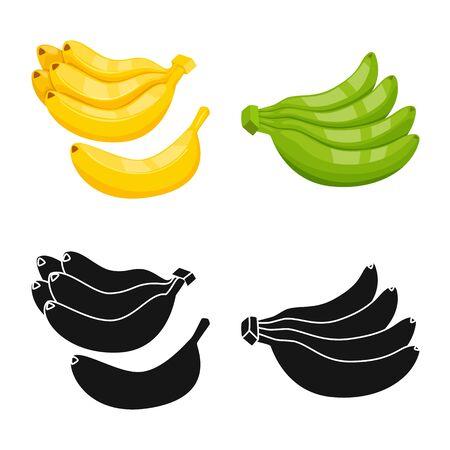 Vector design of natural and vegetarian symbol. Collection of natural and eating stock symbol for web. Illustration