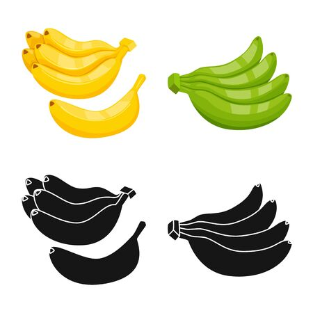 Vector design of natural and vegetarian symbol. Collection of natural and eating stock symbol for web. 写真素材 - 129990489