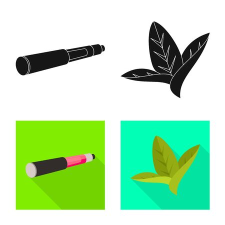 Isolated object of accessories and harm sign. Collection of accessories and euphoria stock vector illustration. Ilustração