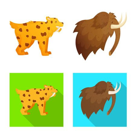 Vector design of evolution and neolithic icon. Collection of evolution and primeval stock symbol for web. Imagens - 130010354