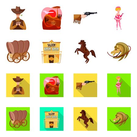 Vector design of texas and history  . Collection of texas and culture vector icon for stock.
