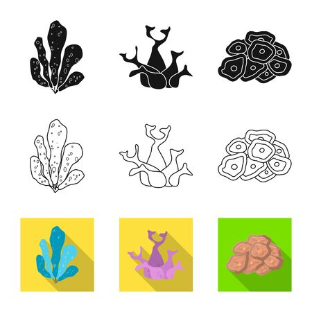 Vector design of biodiversity and nature icon. Collection of biodiversity and wildlife stock vector illustration. Illustration