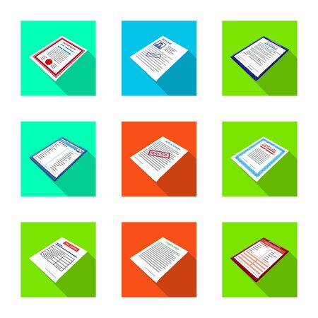 Vector design of company and advertise icon. Collection of company and placard vector icon for stock.