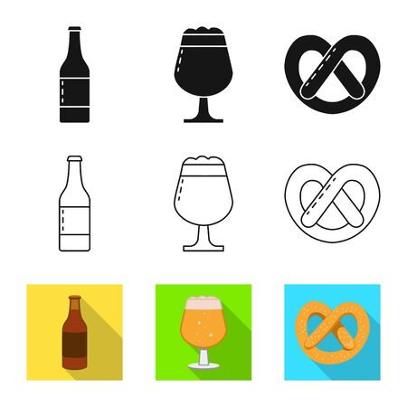 Vector design of brewery and brewing  . Collection of brewery and ingredient stock symbol for web.