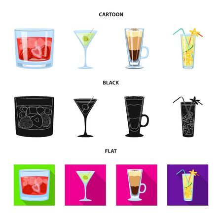 Isolated object of liquor and restaurant  . Set of liquor and ingredient stock symbol for web.