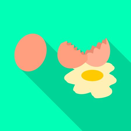Vector design of egg and fresh sign. Collection of egg and diet stock symbol for web.