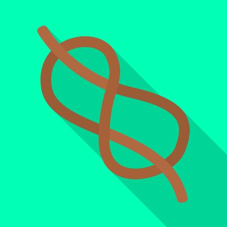 Vector design of knot and rope symbol. Set of knot and eight vector icon for stock. Ilustrace