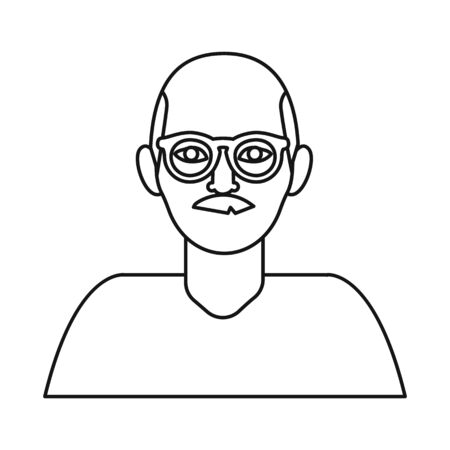 Isolated object of man and face . Set of man and male stock symbol for web.
