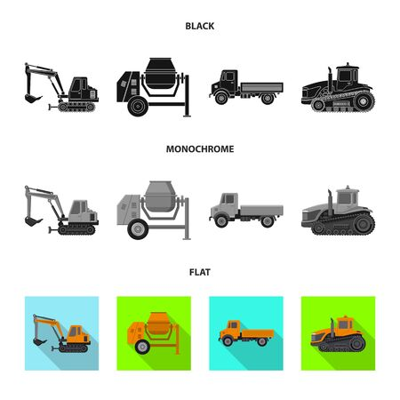 Vector design of build and construction  . Set of build and machinery stock symbol for web. Stock Illustratie