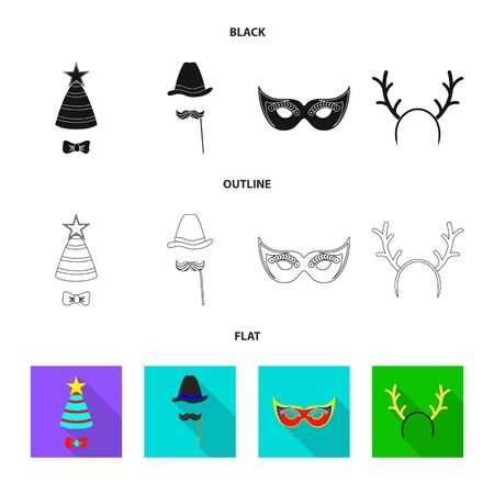 Isolated object of party and birthday . Set of party and celebration vector icon for stock.