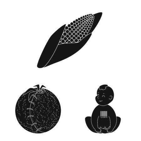 Vector design of quality and laboratory icon. Set of quality and genetically vector icon for stock. Ilustração