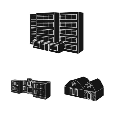 Vector design of renovation and infrastructure icon. Collection of renovation and home stock symbol for web.