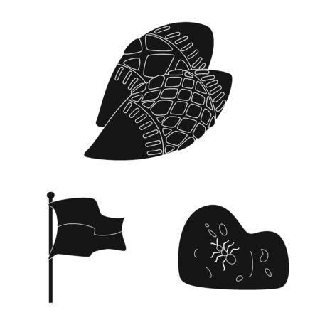 Vector illustration of heritage and landmarks logo. Collection of heritage and travel stock vector illustration. Çizim