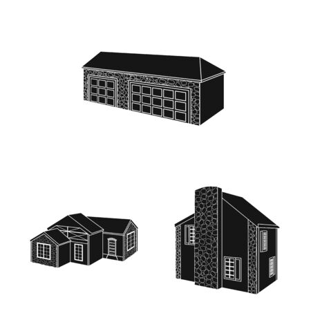 Vector design of renovation and infrastructure icon. Set of renovation and home vector icon for stock.