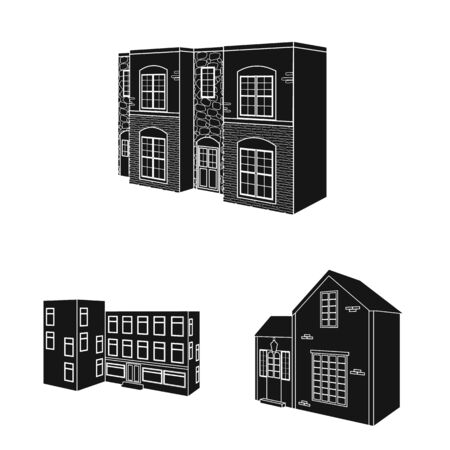 Vector illustration of renovation and infrastructure symbol. Set of renovation and home vector icon for stock.