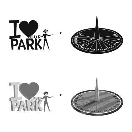 Vector illustration of urban and street symbol. Set of urban and relaxation stock symbol for web.