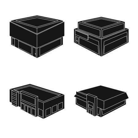 Vector illustration of and house logo. Set of and building vector icon for stock. 向量圖像