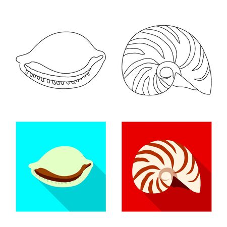 Vector design of animal and decoration logo. Collection of animal and ocean stock vector illustration.