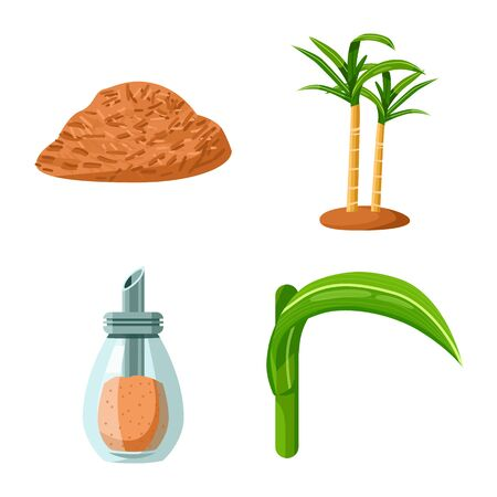 Isolated object of natural and production icon. Set of natural and organic vector icon for stock. Ilustração