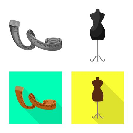 Vector design of craft and handcraft. Set of craft and industry vector icon for stock.
