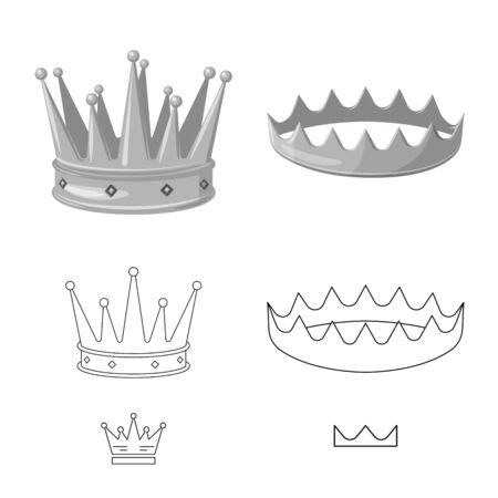 Vector design of medieval and nobility sign. Collection of medieval and monarchy vector icon for stock. Stok Fotoğraf - 130041590