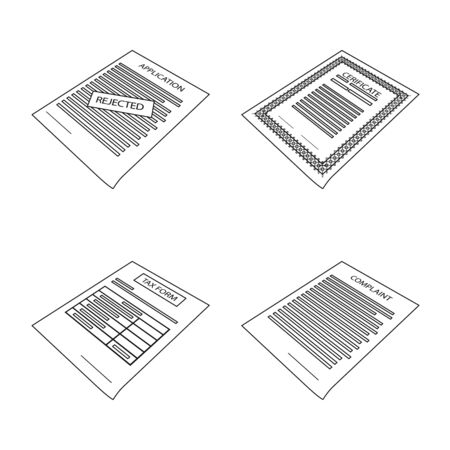 Vector illustration of business and id. Collection of business and office stock vector illustration. Illusztráció