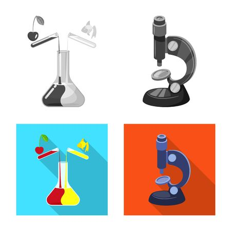 Isolated object of test and synthetic sign. Collection of test and laboratory vector icon for stock. Ilustração