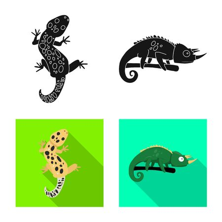 Isolated object of tail and fauna symbol. Set of tail and environment stock vector illustration. 일러스트