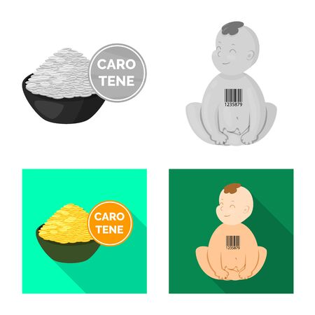 Vector illustration of test and synthetic. Collection of test and laboratory vector icon for stock. 向量圖像