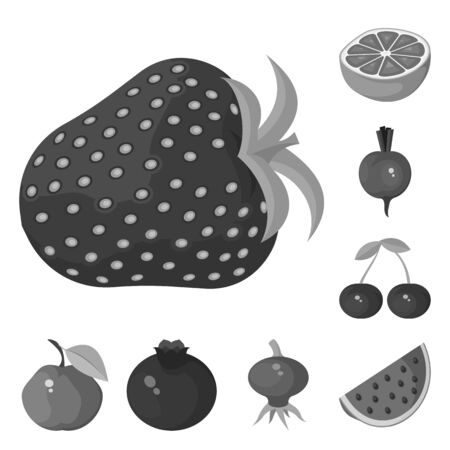 Vector illustration of natural and harvest icon. Collection of natural and red stock vector illustration.