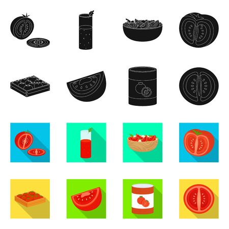 Vector design of vegetable and delicious symbol. Set of vegetable and natural vector icon for stock.