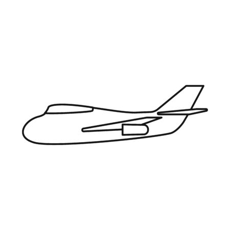Vector design of aeroplane and air sign. Collection of aeroplane and comfort vector icon for stock.
