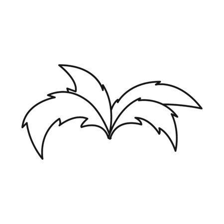 Vector illustration of shrubs and green symbol. Set of shrubs and nature stock vector illustration.