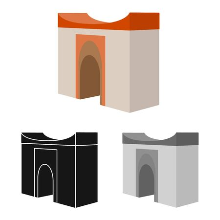 Isolated object of building and vietnam icon. Collection of building and place stock vector illustration. Illustration