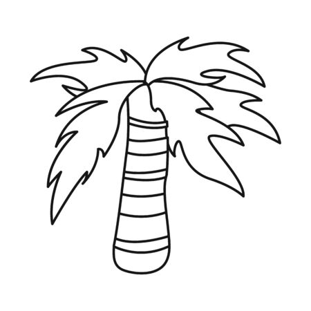 Vector illustration of palm and forest symbol. Collection of palm and relax stock symbol for web.