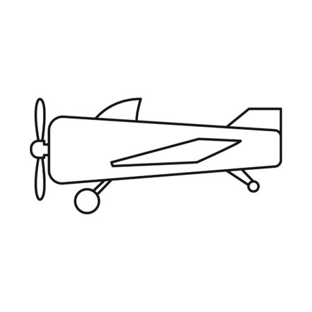 Vector design of plane and old icon. Graphic of plane and biplane vector icon for stock.
