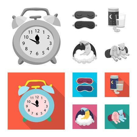 Vector design of dreams and night sign. Collection of dreams and bedroom vector icon for stock. Ilustração