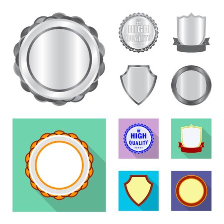 Isolated object of emblem and badge icon. Set of emblem and sticker vector icon for stock.