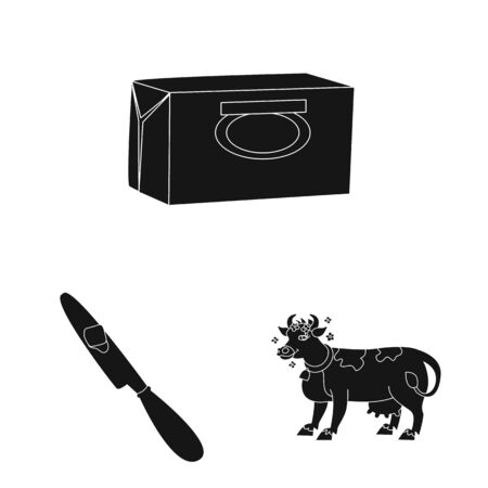 Isolated object of diet and farm icon. Collection of diet and dairy vector icon for stock.