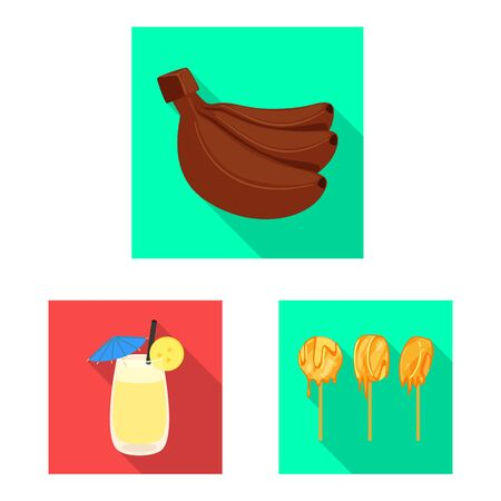 Isolated object of natural and vegetarian icon. Set of natural and eating vector icon for stock.