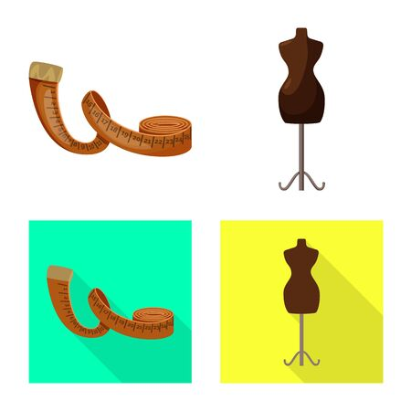 Vector illustration of craft and handcraft icon. Set of craft and industry stock symbol for web. Ilustracje wektorowe