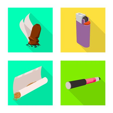 Vector design of accessories and harm icon. Set of accessories and euphoria vector icon for stock.  イラスト・ベクター素材