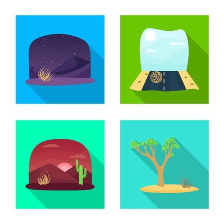 Isolated object of landscape and nature icon. Set of landscape and environment stock symbol for web.