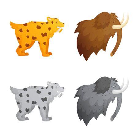Vector design of evolution and neolithic sign. Collection of evolution and primeval vector icon for stock. Ilustração