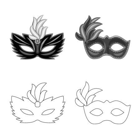 Isolated object of luxury and celebration symbol. Collection of luxury and hide stock symbol for web. Çizim
