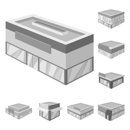 Vector design of construction and showcase icon. Set of construction and architecture stock symbol for web.