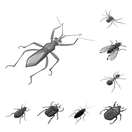 Vector illustration of small and animal logo. Collection of small and wildlife stock vector illustration. Ilustracja