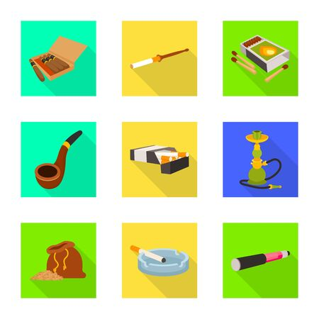 Vector illustration of accessories and harm icon. Set of accessories and euphoria stock vector illustration. Stock Illustratie