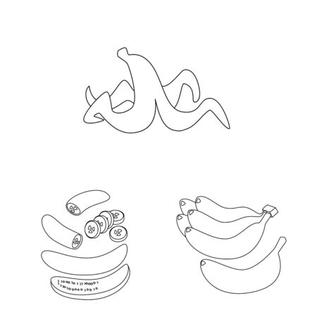 Isolated object of organic and potassium sign. Set of organic and diet vector icon for stock. Çizim